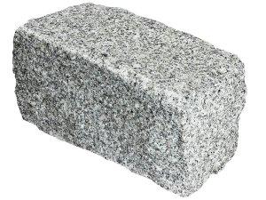 Kamień murowy granitowy łupany jasnoszary STRZEGOM (20x20x40)