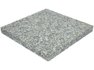 Płyta granitowa tarasowa płomieniowana jasnoszara STRZEGOM (40x40x3) OKAZJA